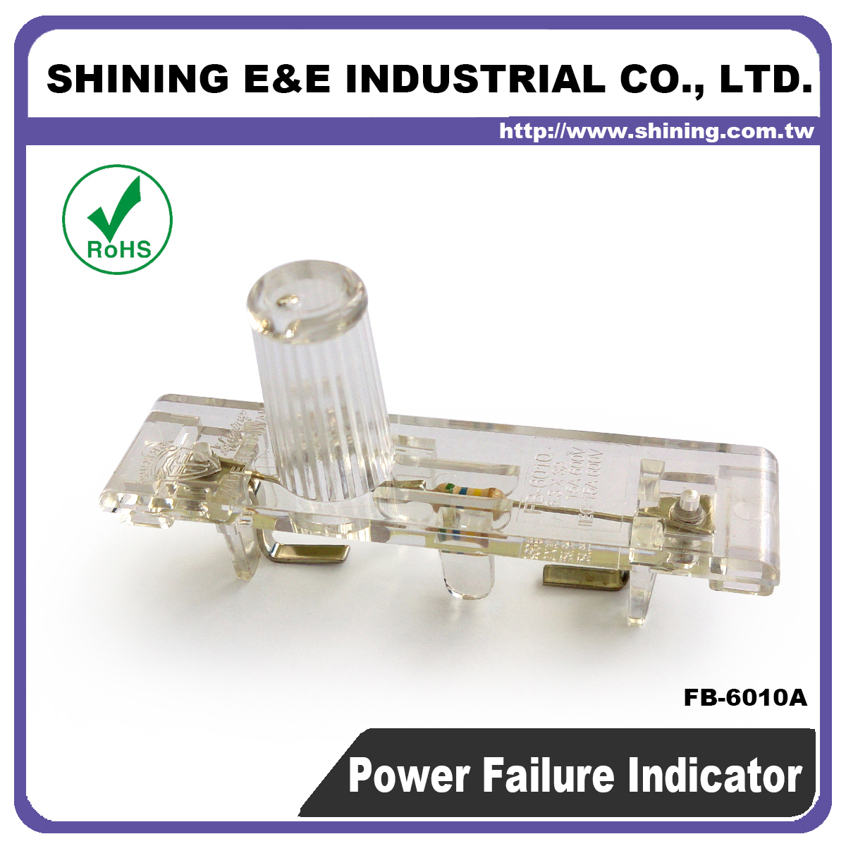 Taiwan Fb 6010a 380v Ac Fuse Block Led Power Failure Indicator Light Circuit
