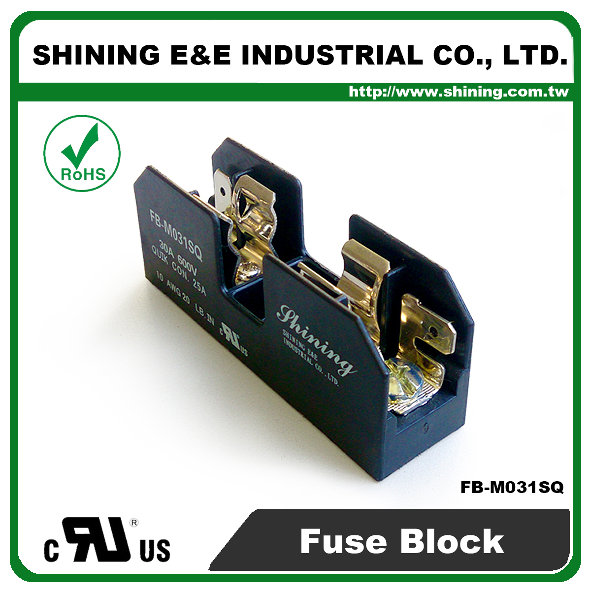 Taiwan Fb M031sq 600v 30amp 1 Way Ul 10x38 Ceramic Midget