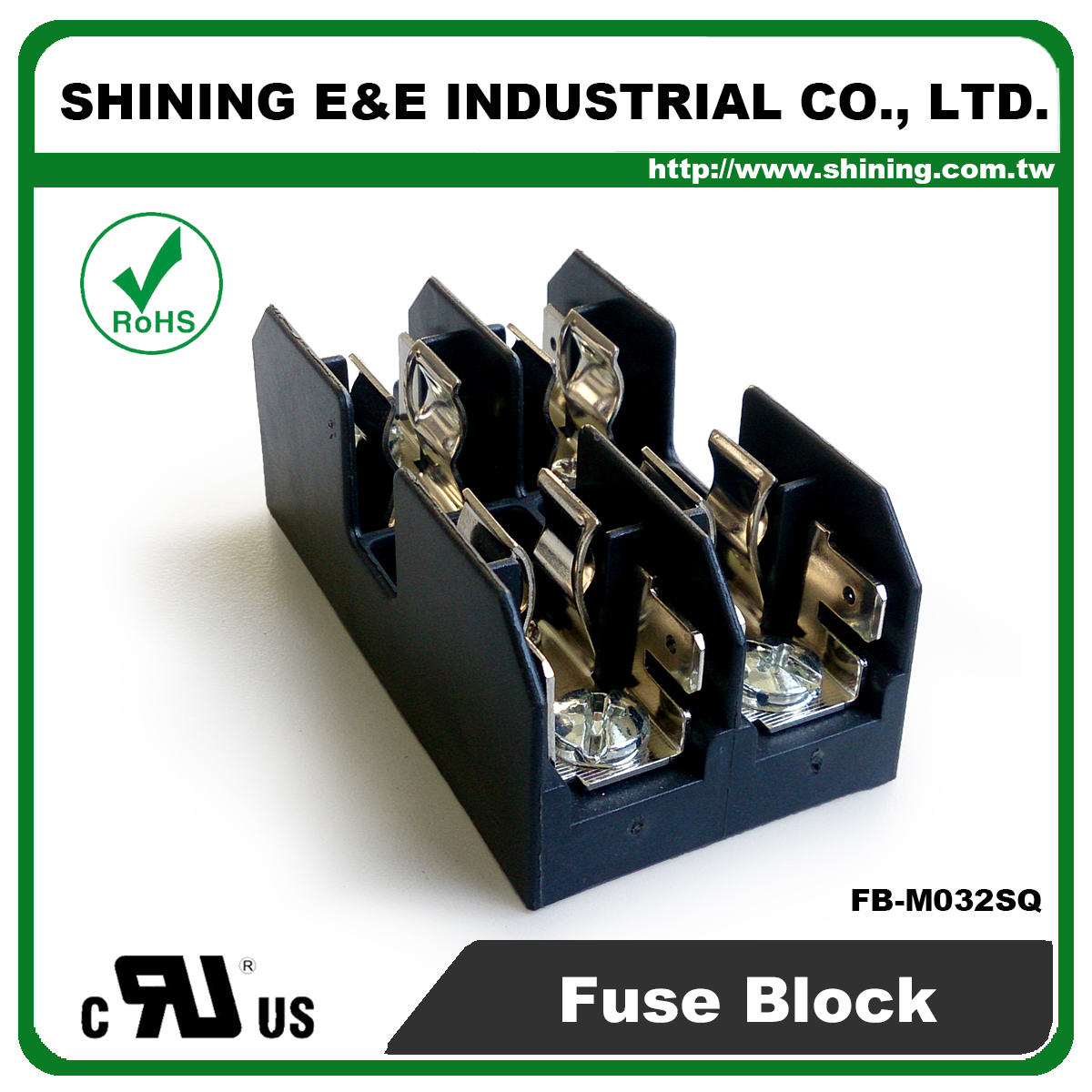 Taiwan Fb M032sq 600v 30amp 2 Way 10x38 Midget Fuse Block
