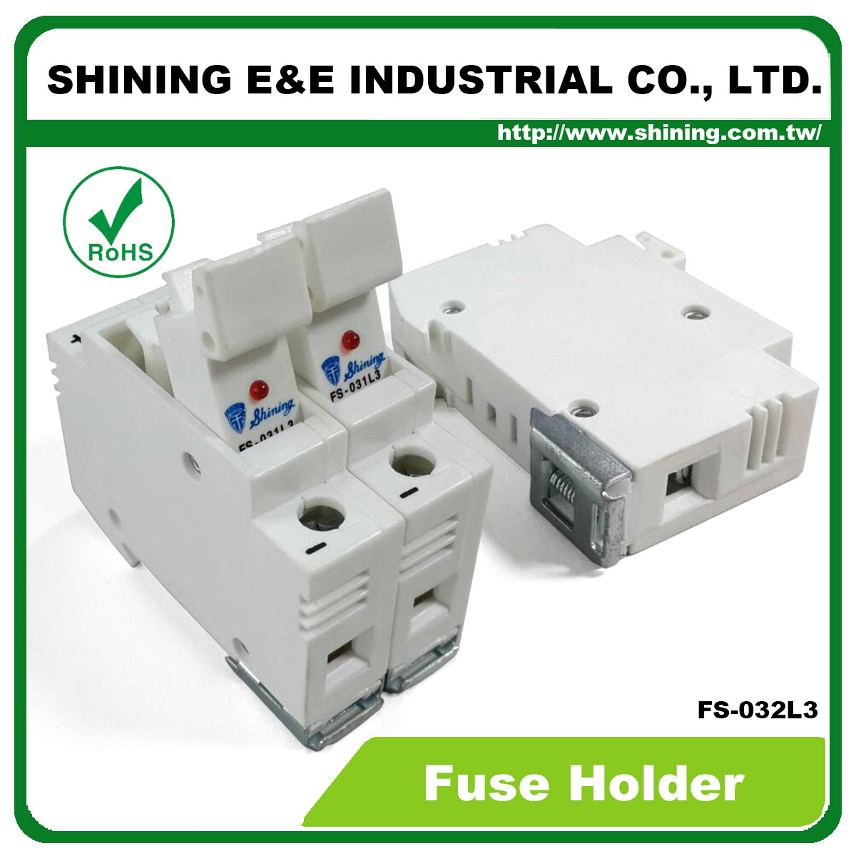 2 Pole Din Rail Fuse Box 24 Wiring Diagram Images Industrial Fs 032l3 600v 32a Way Mounted Cylindrical Holder V6 Taiwan