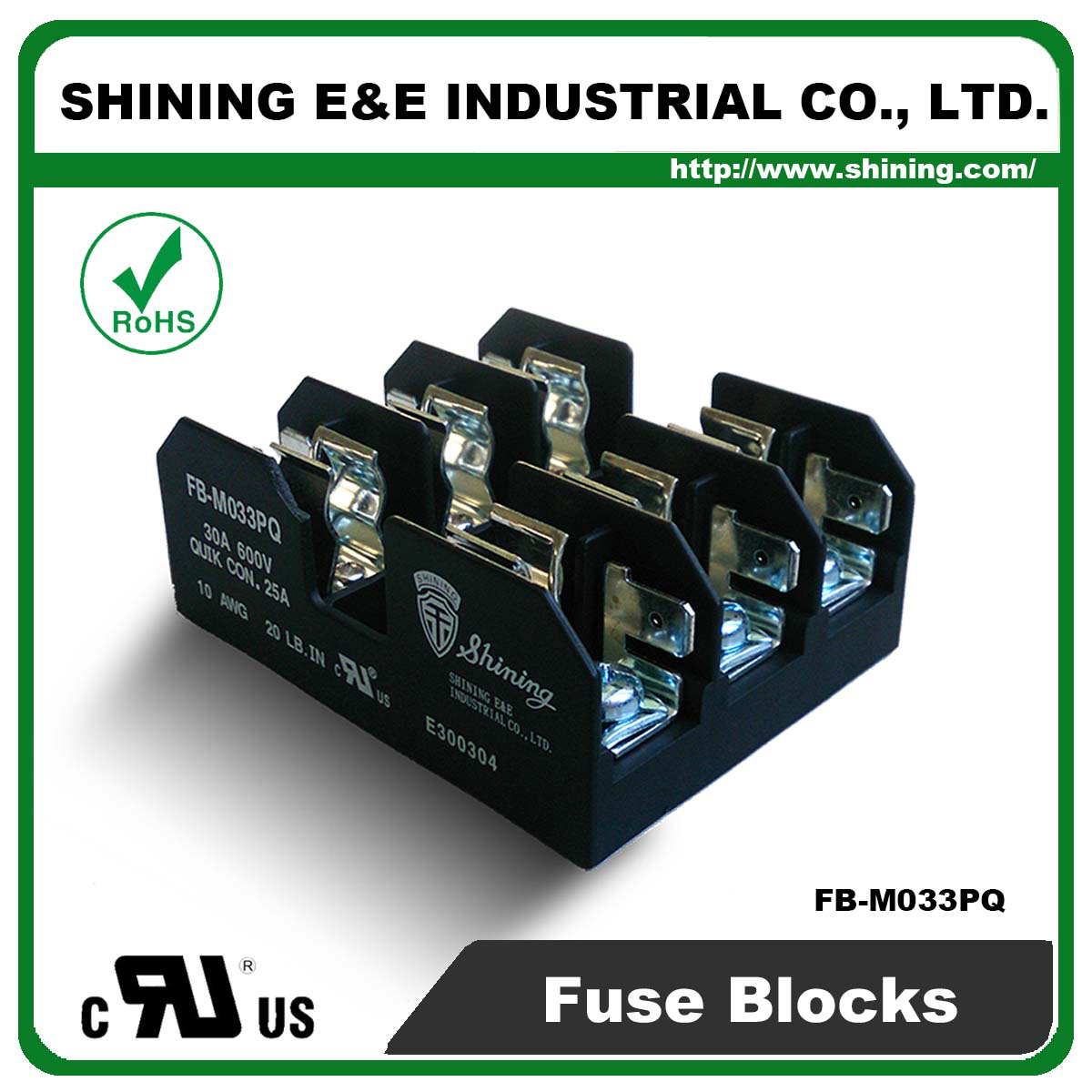 Shining E Amp E Fb M033pq For 10x38mm Fuse 600v 30 Amp 3