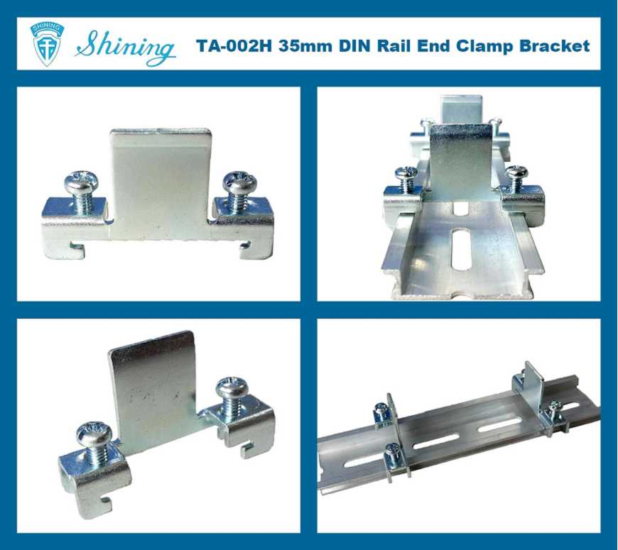(TA-002H) Steel End Bracket For 35mm Din Mounting Rail