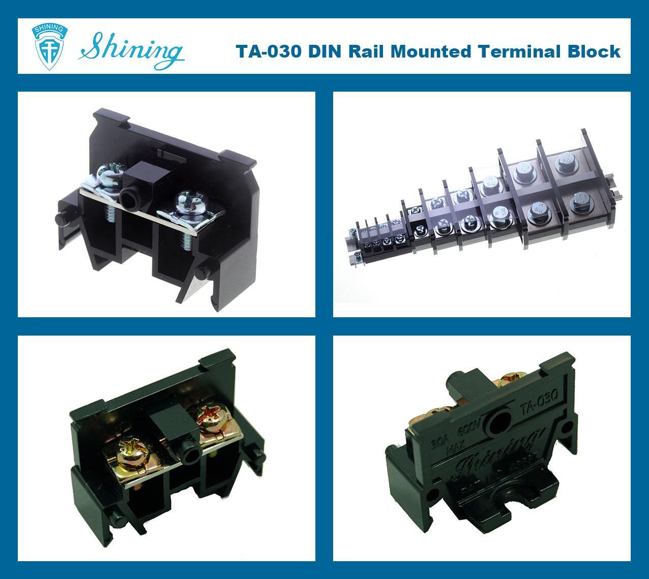 SHINING-TA-030 35mm-Din-Rail-Mounted-Assembly-Type-600V-30A-Terminal-Block