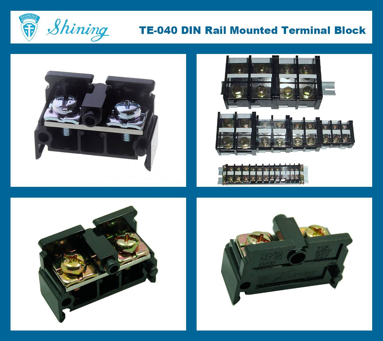 SHINING-TE-040-35mm-Din-Rail-Mounted-Assembly-Type-600V-40A-Terminal-Strip