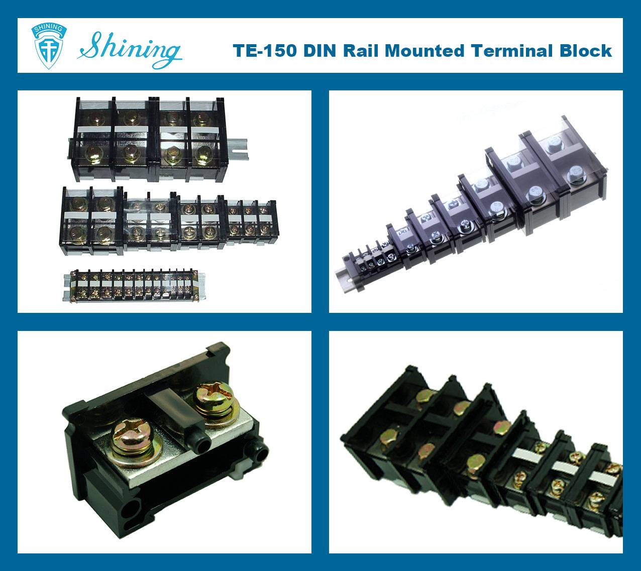 SHINING-TE-150 35mm Din Rail Mounted Assembly Type 600V 150A Terminal Strip
