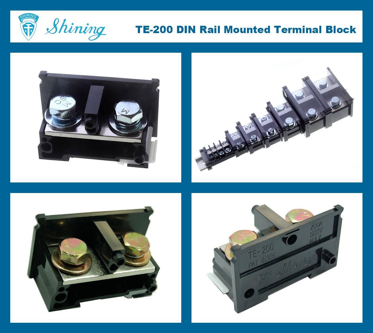 SHINING-TE-200 35mm Din Rail Mounted Assembly Type 600V 200A Terminal Strip