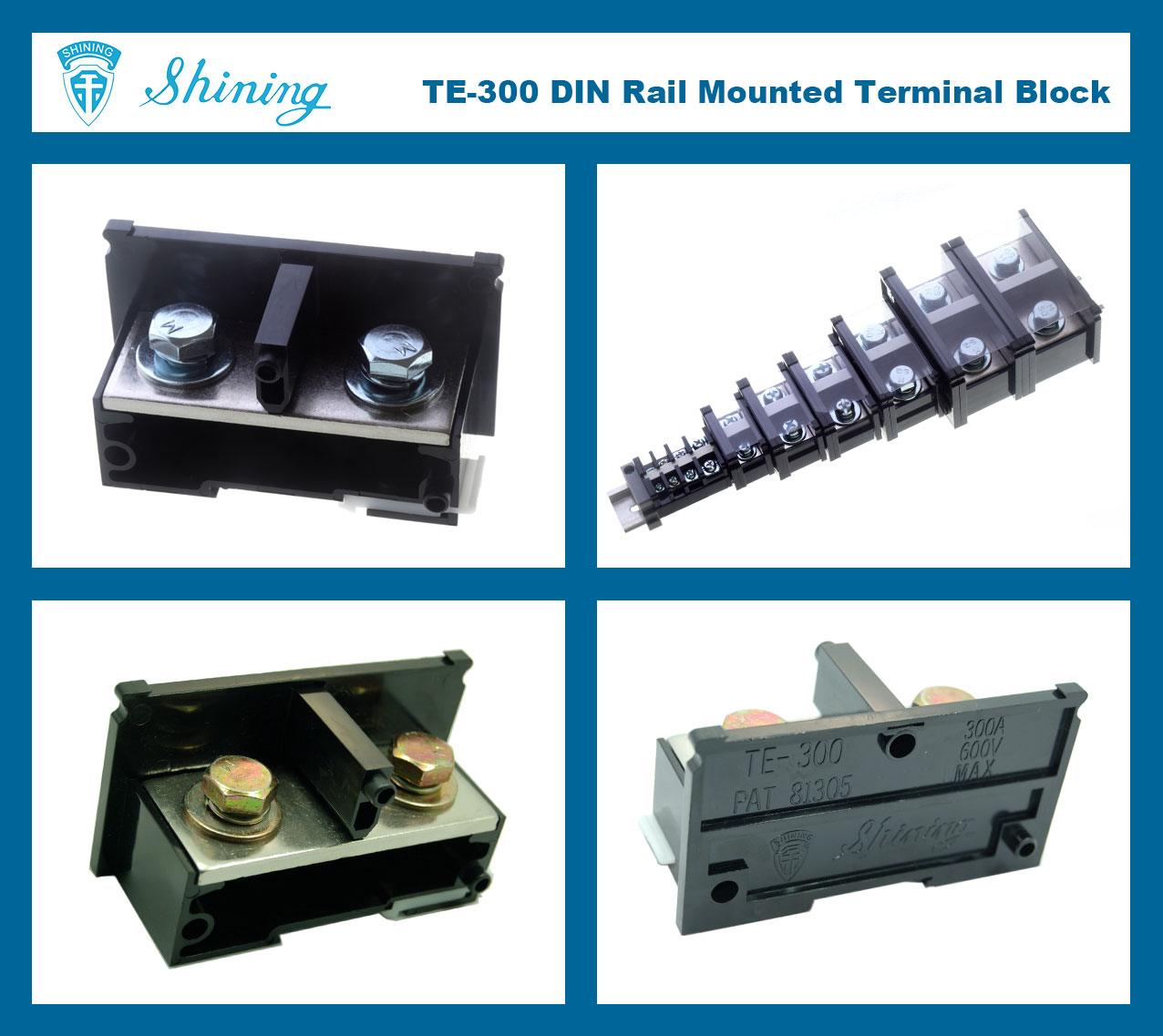 SHINING-TE-300 35mm Din Rail Mounted Assembly Type 600V 300A Terminal Strip