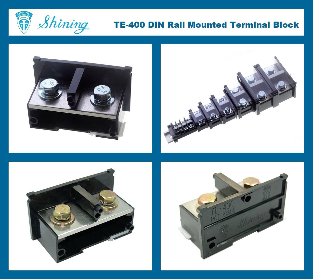 SHINING-TE-400 35mm Din Rail Mounted Assembly Type 600V 400A Terminal Strip