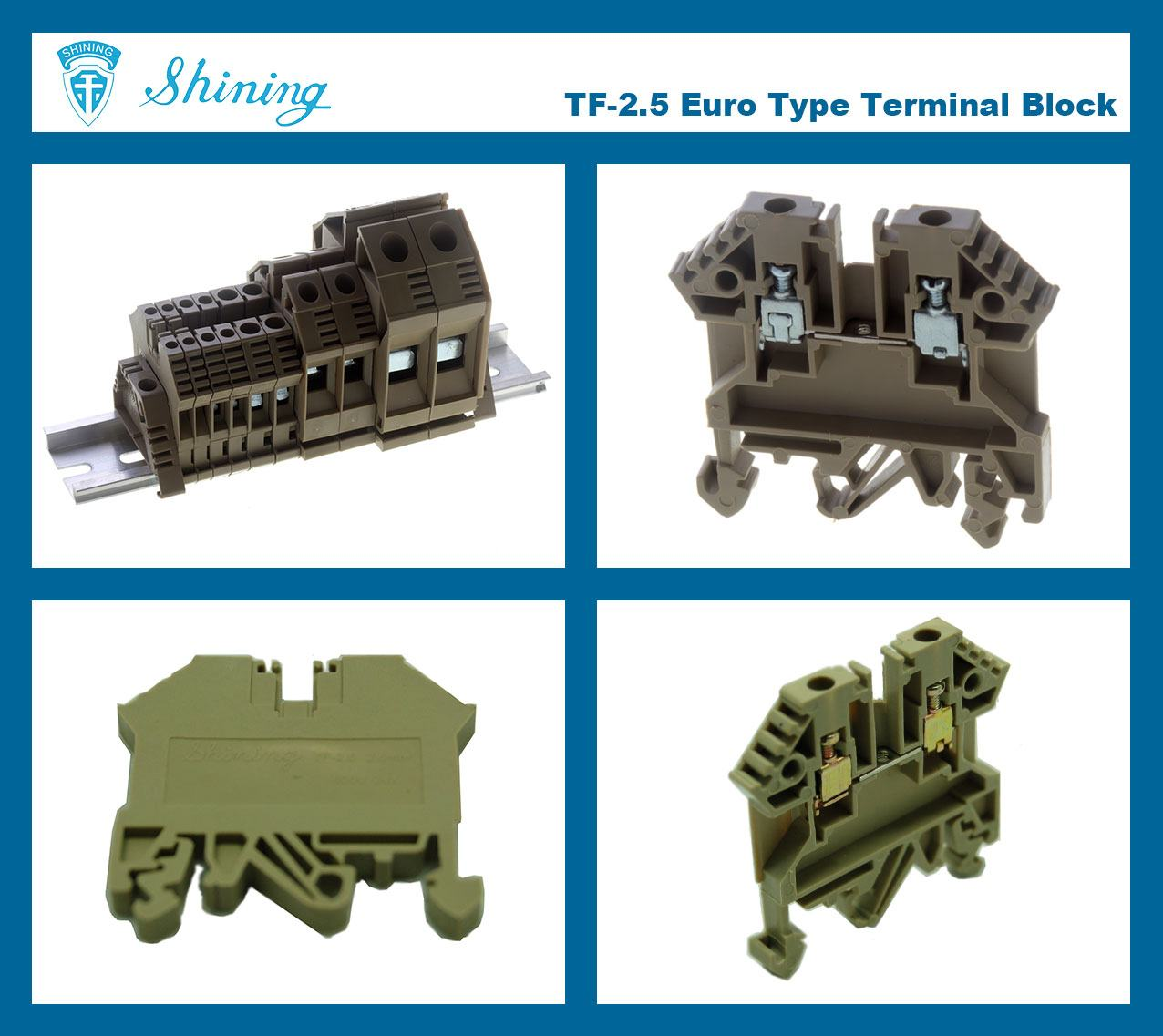 TF-2.5 Euro Type 2.5mm Feed Through Terminal Block
