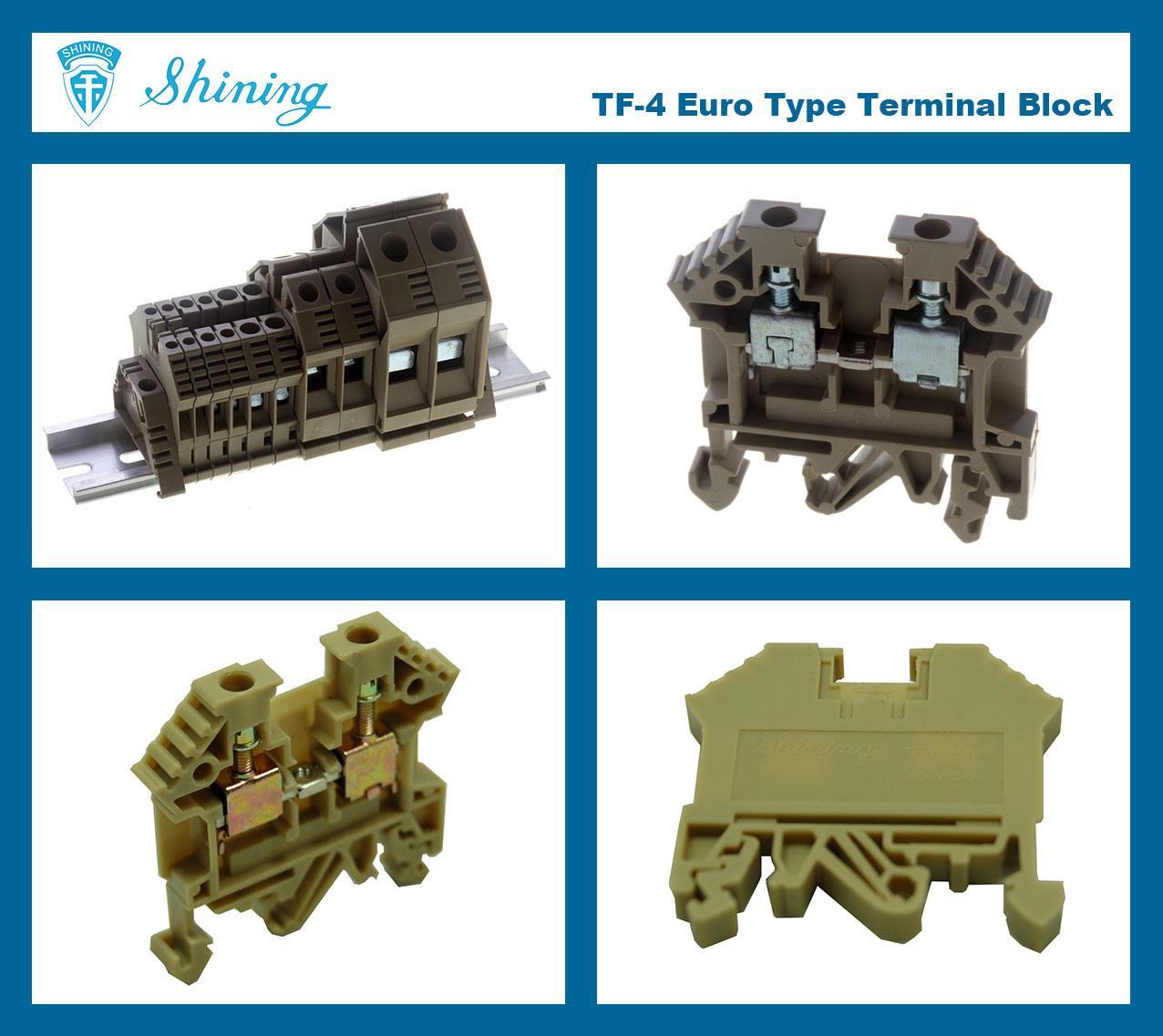 TF-4 Euro Type 4mm Feed Through Terminal Block