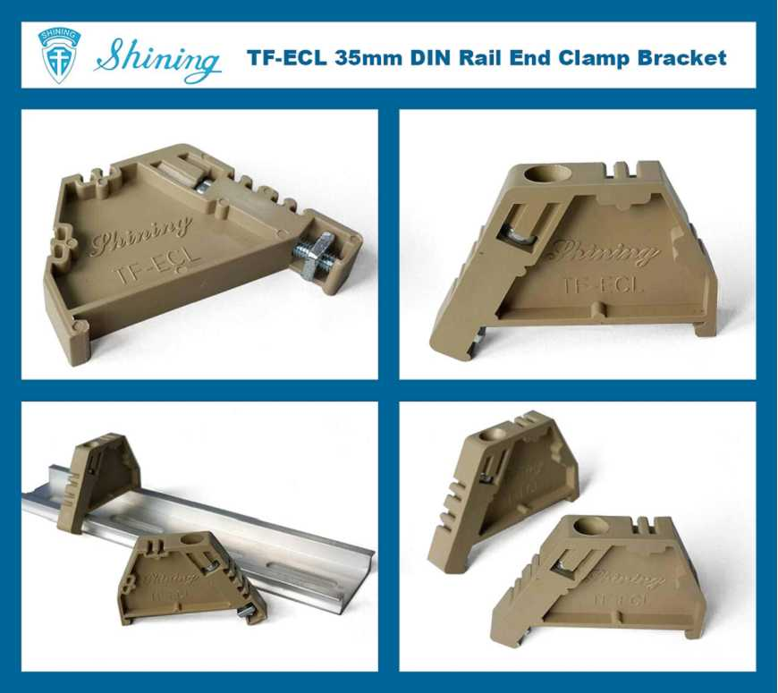 (TF-ECL) Plastic End Clamp For 35mm Din Mounting Rail