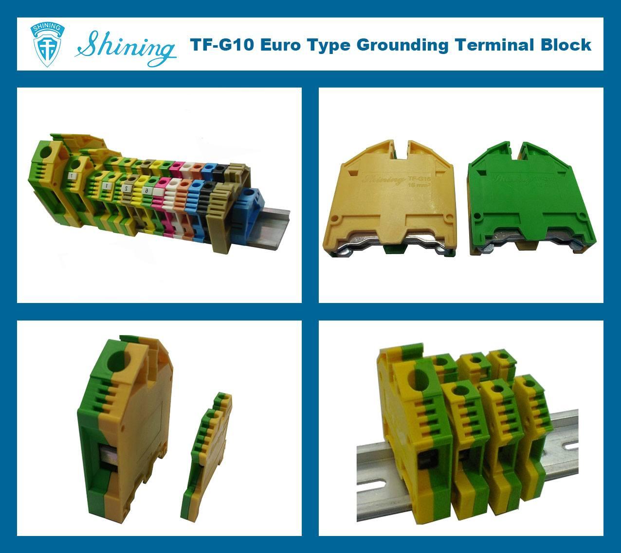 TF-G10 Euro Type 10mm Ground Earthing Terminal Strip