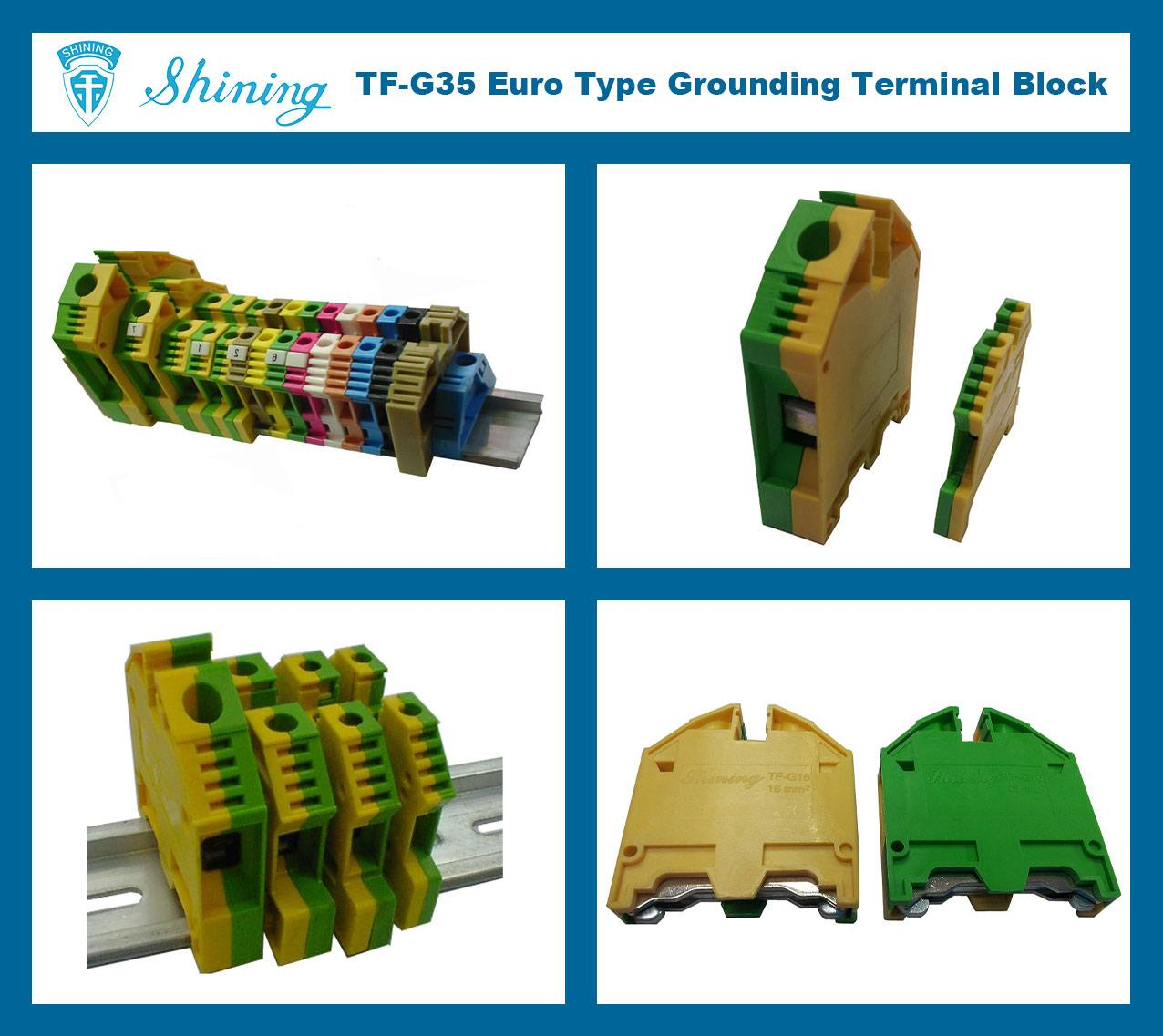 TF-G35 Euro Type 35mm Ground Earthing Terminal Strip