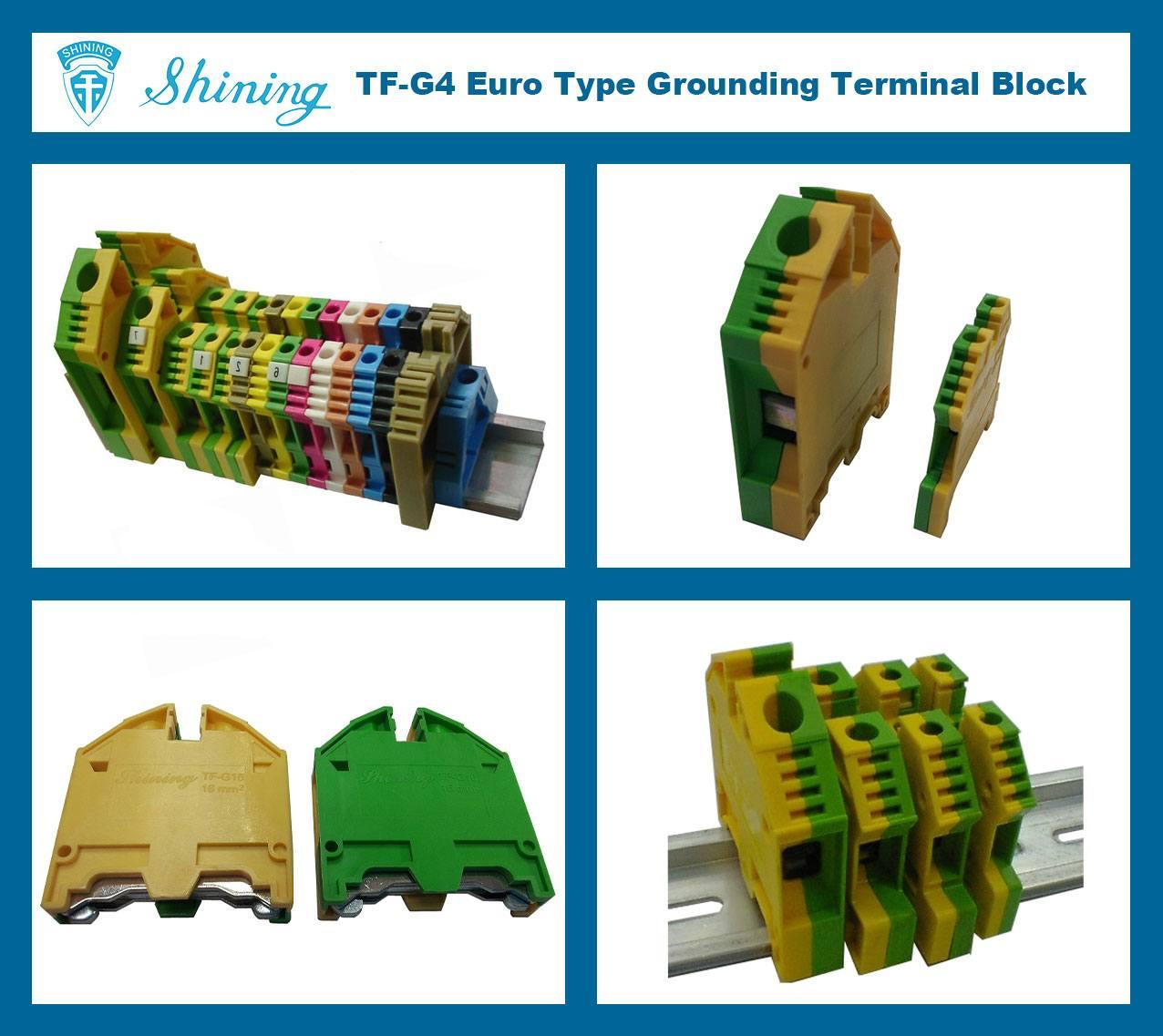 TF-G4 Euro Type 4mm Ground Earthing Terminal Strip
