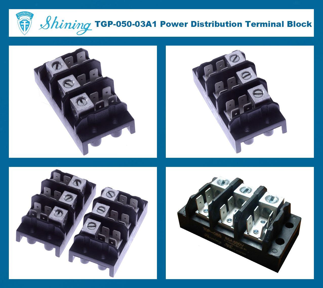 TGP-050-03A1 600V 50A 3 Pole Electrical Power Terminal Block