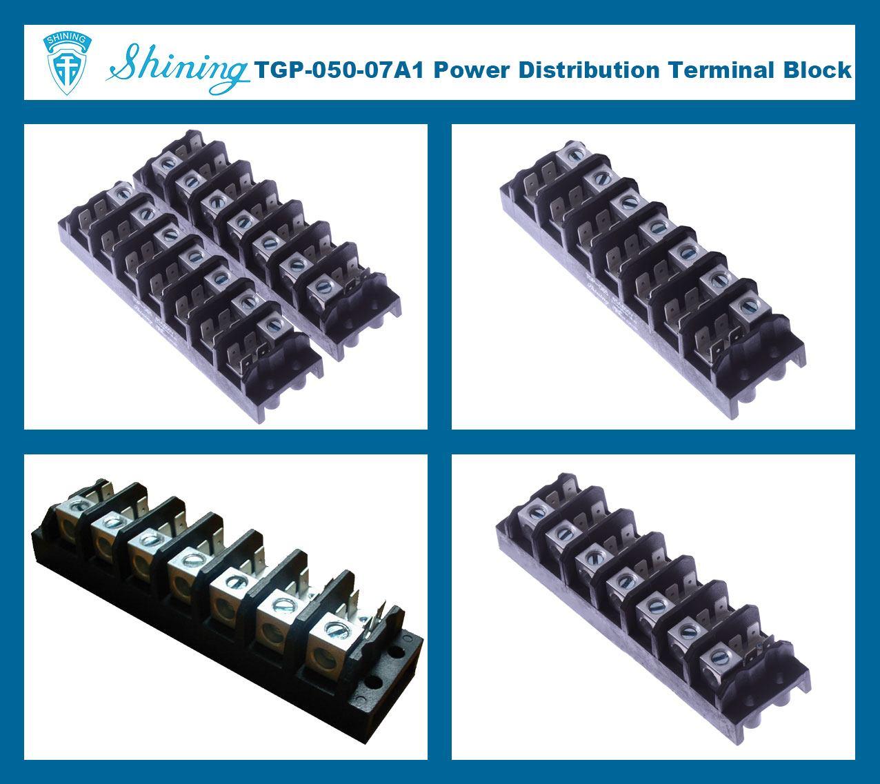 TGP-050-07A1 600V 50A 7 Pole Electrical Power Terminal Block