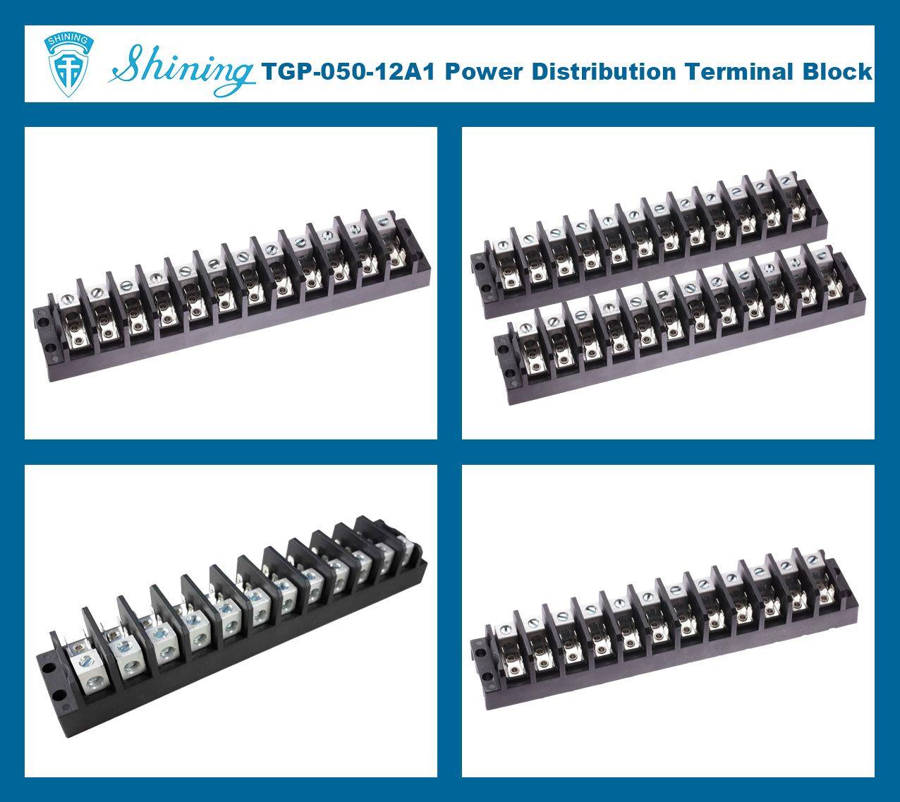 TGP-050-12A1 600V 50A 12 Pole Electrical Power Terminal Block