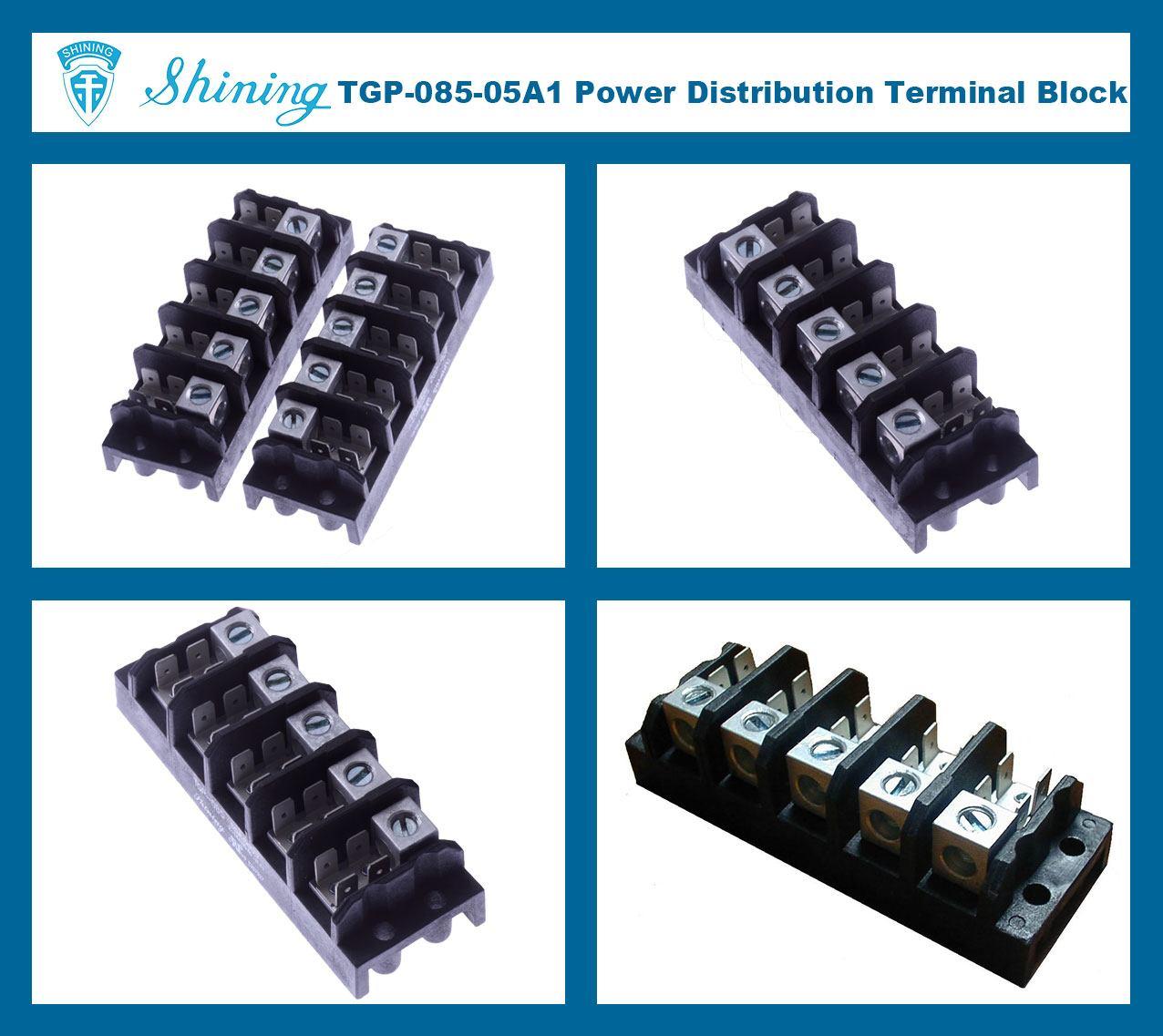 TGP-085-05A1 600V 85A 5 Pole Electrical Power Terminal Block