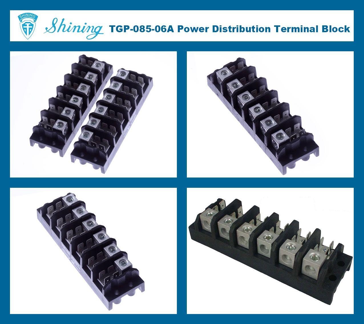 SHINING-TGP-085-06A 600V 85A 6 Pole Electrical Power Terminal Block