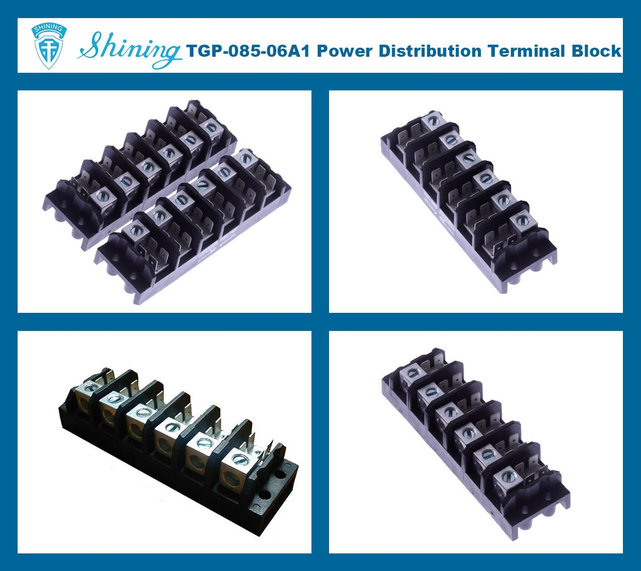 TGP-085-06A1 600V 85A 6 Pole Electrical Power Terminal Block