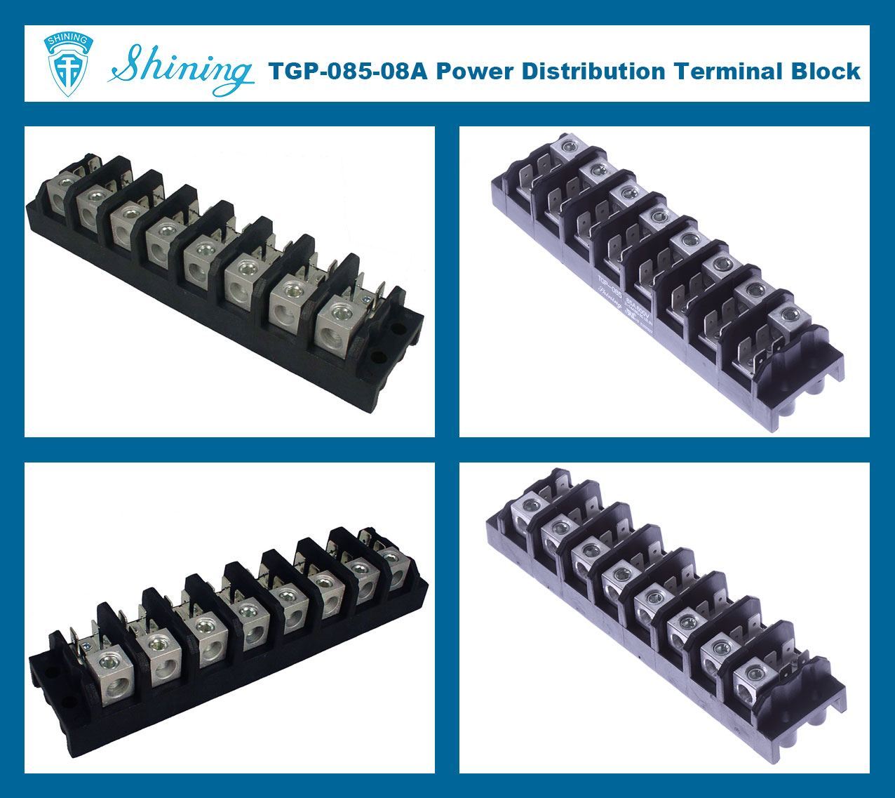 SHINING-TGP-085-08A 600V 85A 8 Pole Electrical Power Terminal Block