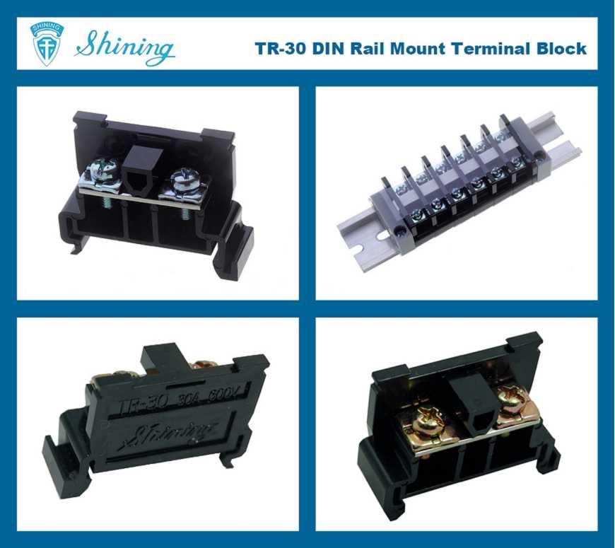 Shining E&E TR-30 35mm Rail Mounted Snap On Type 600V 30A Terminal