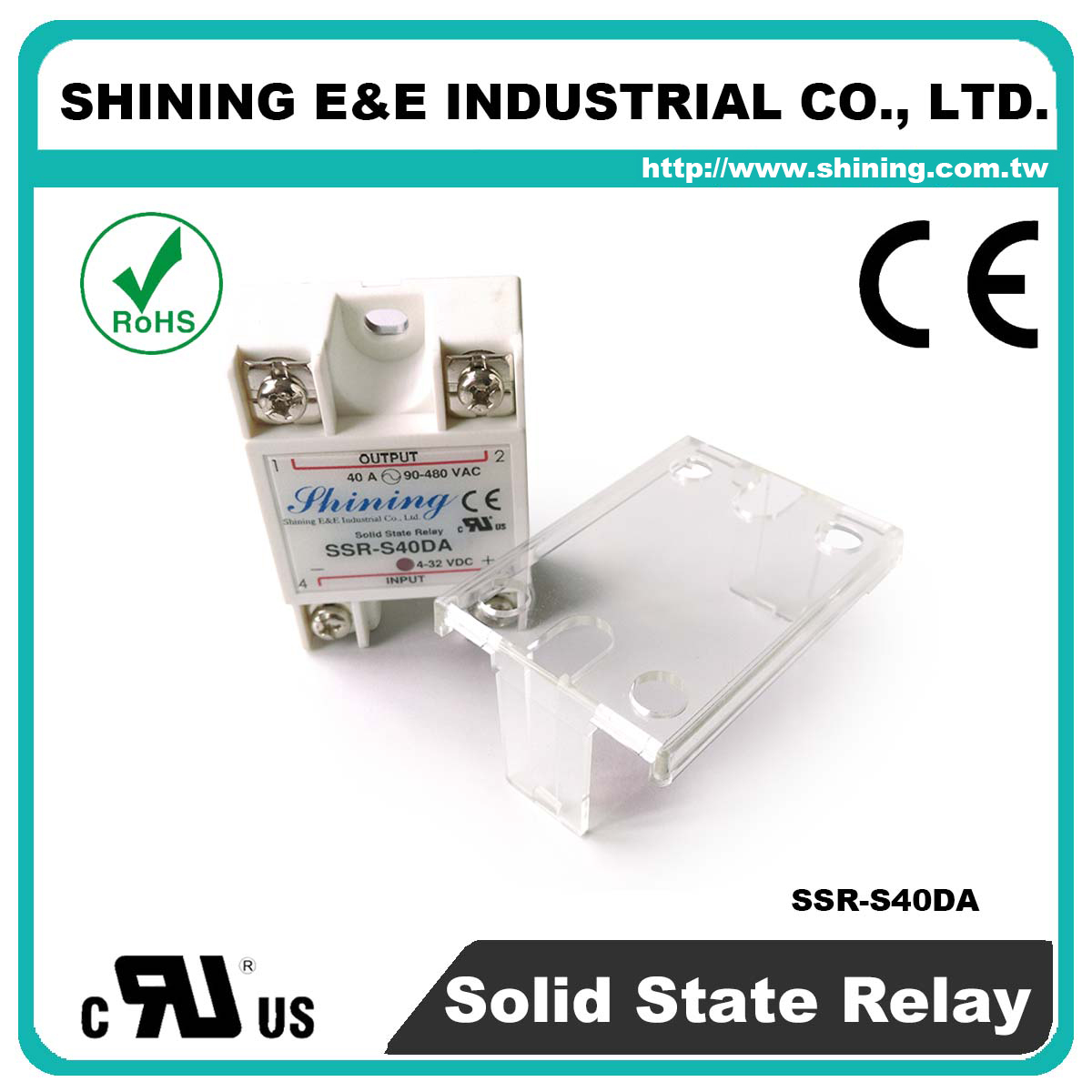 Taiwan Ssr S40da Single Phase 40a Dc To Ac Solid State Relays Relay For