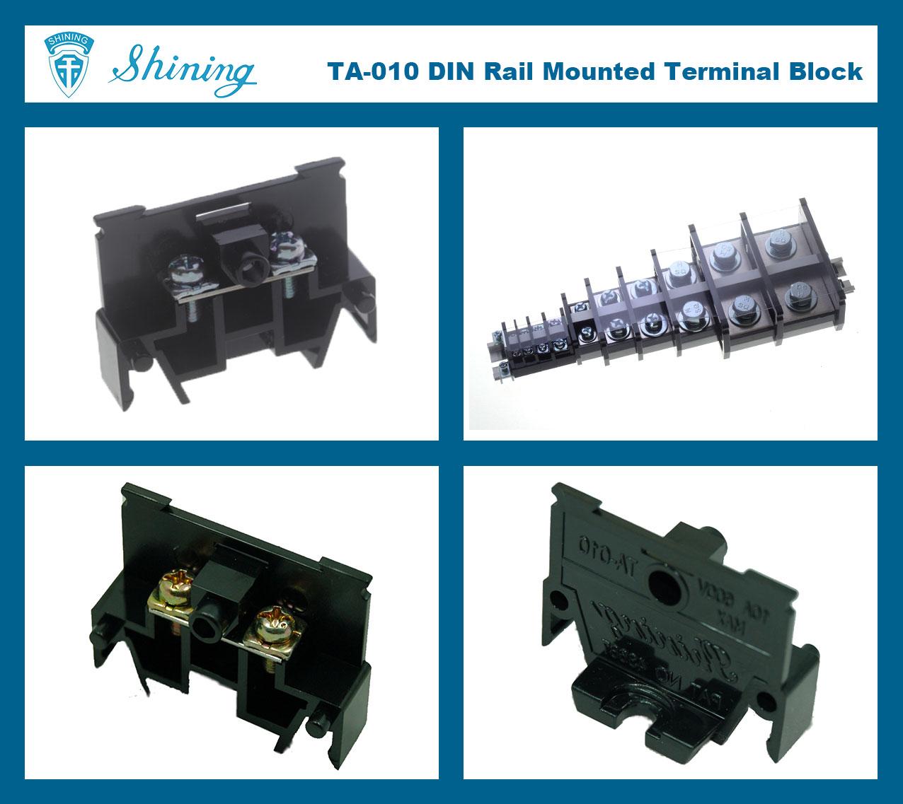 Taiwan Ta 010 35mm Din Rail Terminal Blocks Shining Ee Industrial Mount Fuse Holder Box 35 Mm Electric Wire