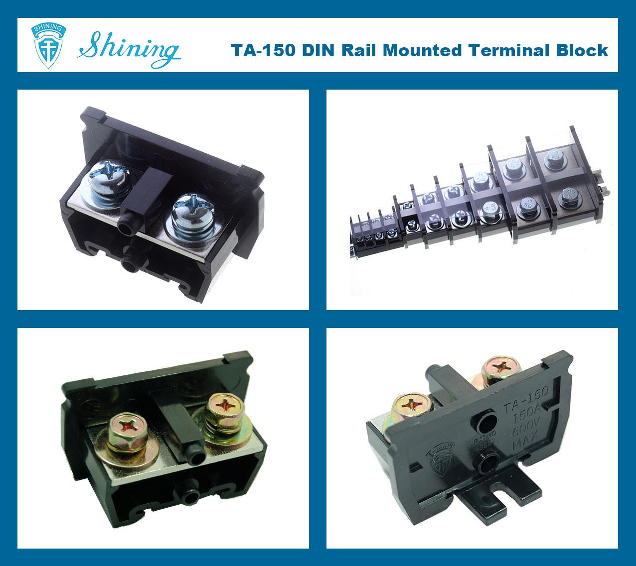 TA-150-35-mm-DIN-Rail-Electric-Wire-Connector-10A-Terminal-Block-1-Photo
