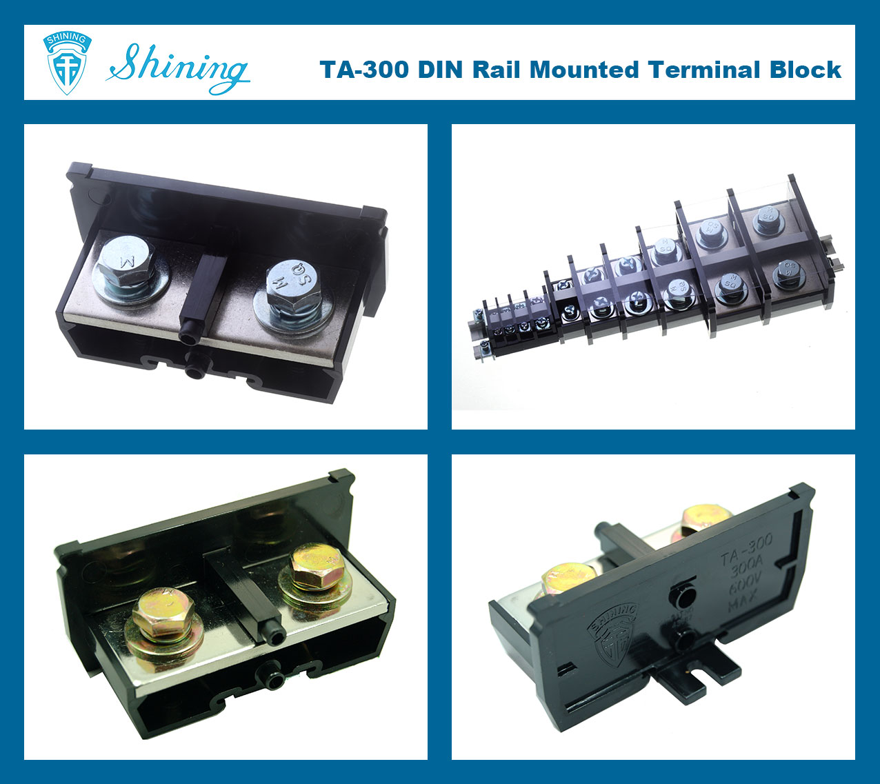 Taiwan View Terminal Block Connector Din Rail 600v 300a 35mm Mount Fuse Holder Box Ta 300 35 Mm Electric Wire