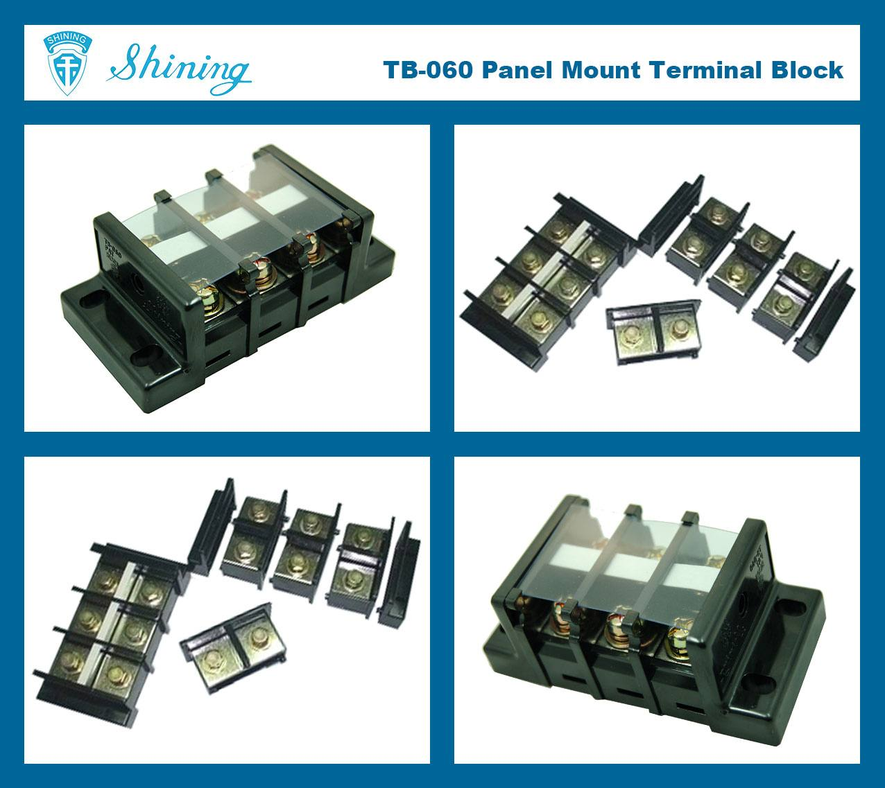 TB-060 Panel Mounted Assembly Type 600V 60A Terminal Connector