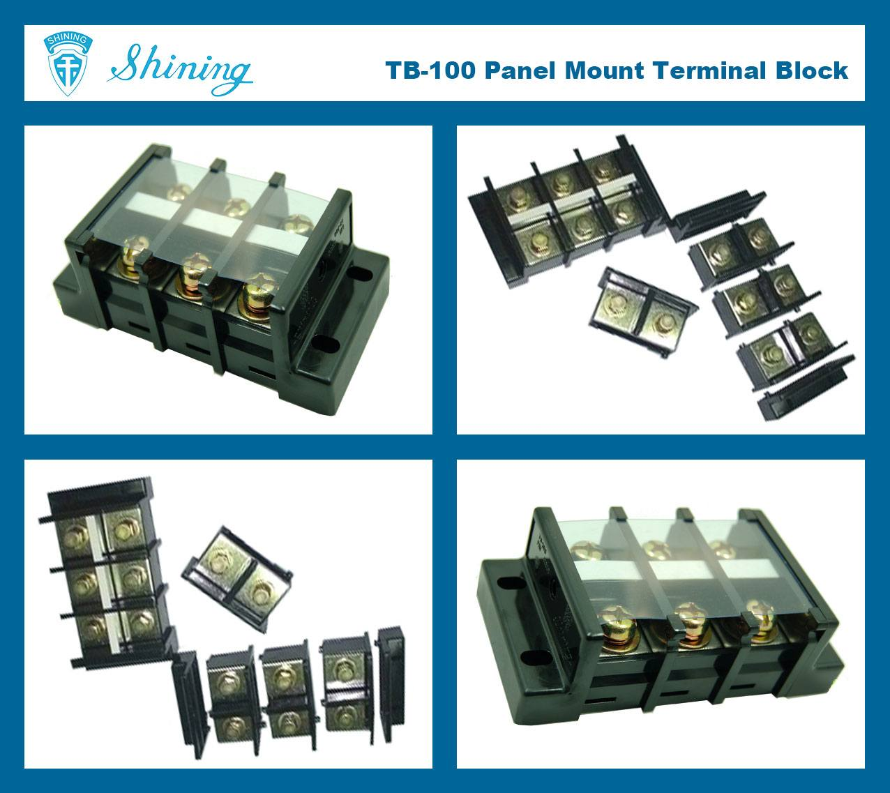 TB-100 Panel Mounted Assembly Type 600V 100A Terminal Connector