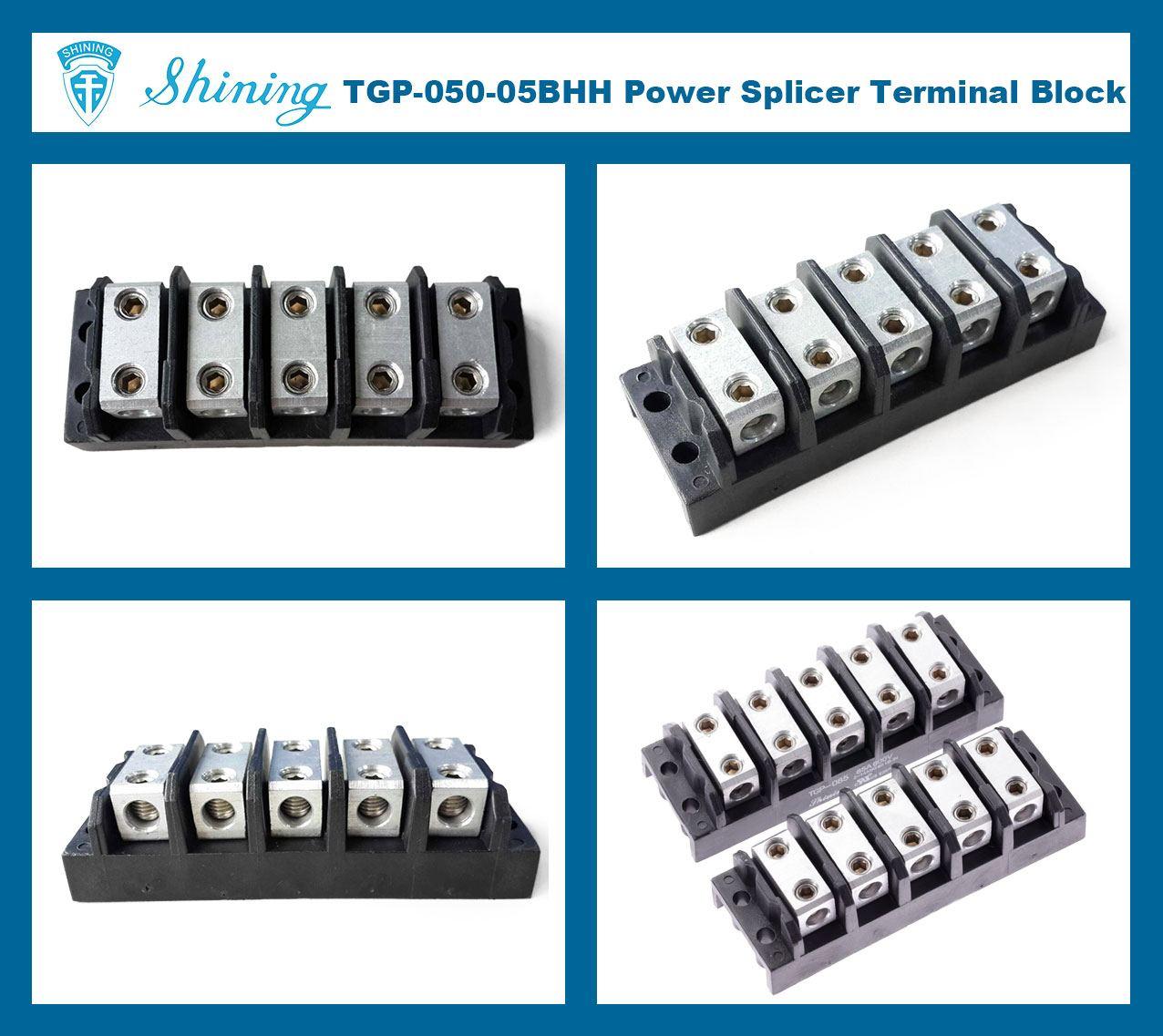 TGP-050-05BHH 600V 50A 5 Way Power Splicer Terminal Block