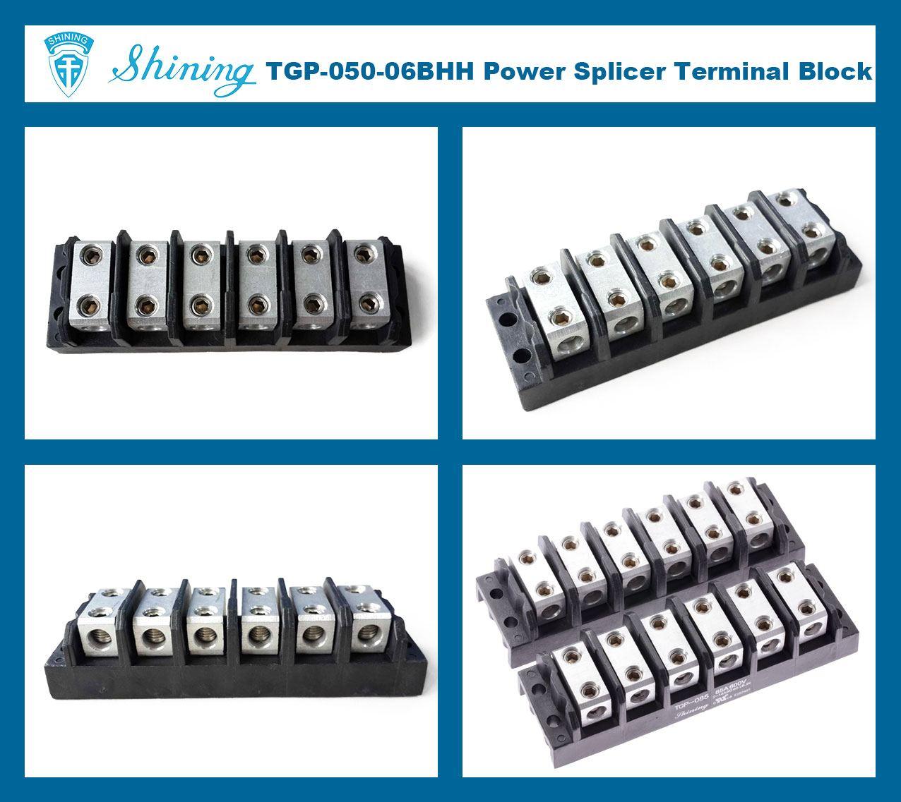 TGP-050-06BHH 600V 50A 6 Way Power Splicer Terminal Block