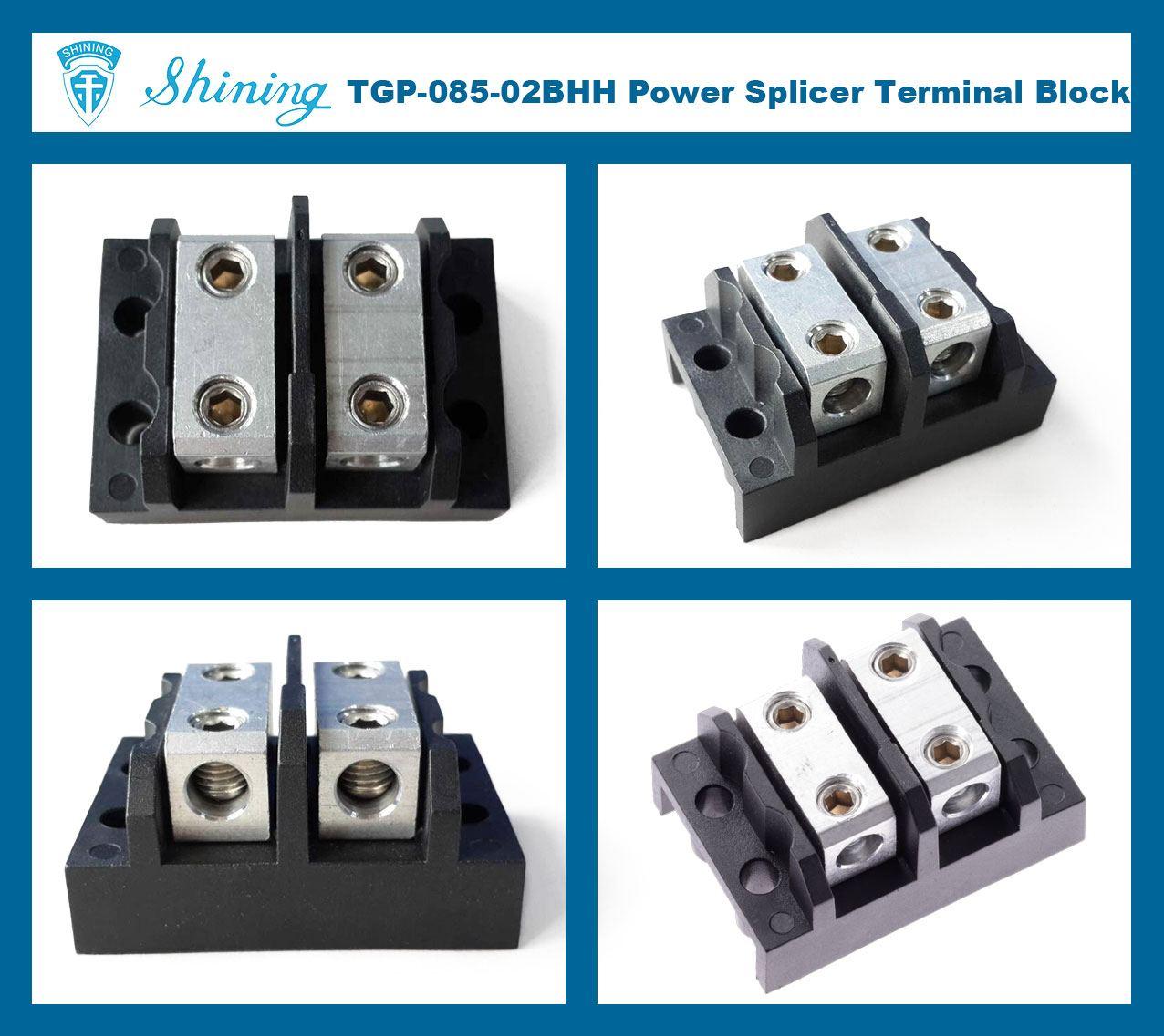 TGP-085-02BHH 600V 85A 2 Way Power Splicer Terminal Block