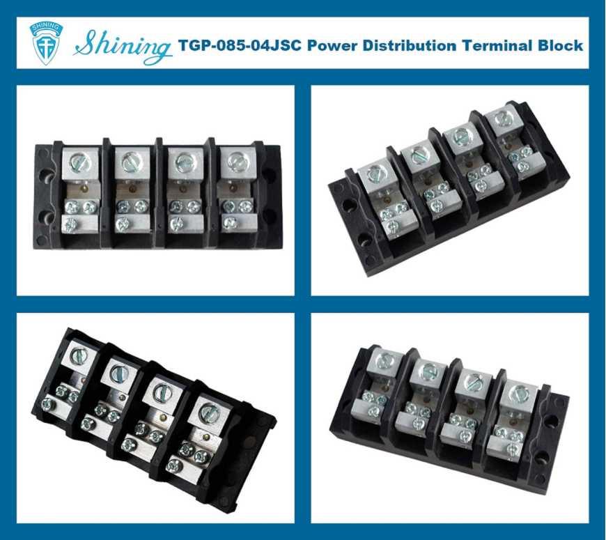 Shining E&E TGP-085-04JSC 600V 85A 4 Pin Power Distribution Terminal ...