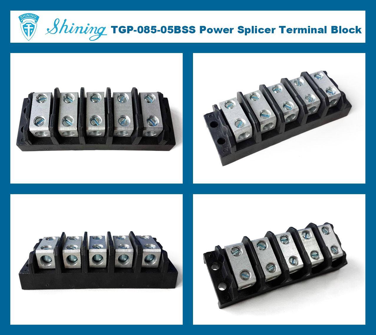 TGP-085-05BSS 600V 85A 5 Way Power Splicer Terminal Block