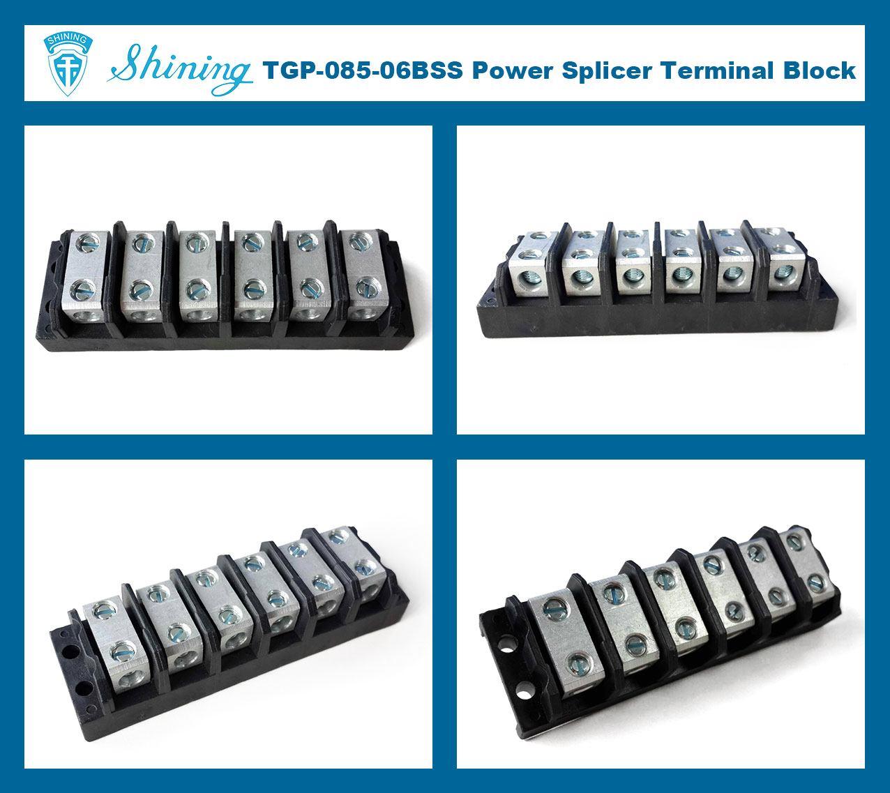 TGP-085-06BSS 600V 85A 6 Way Power Splicer Terminal Block