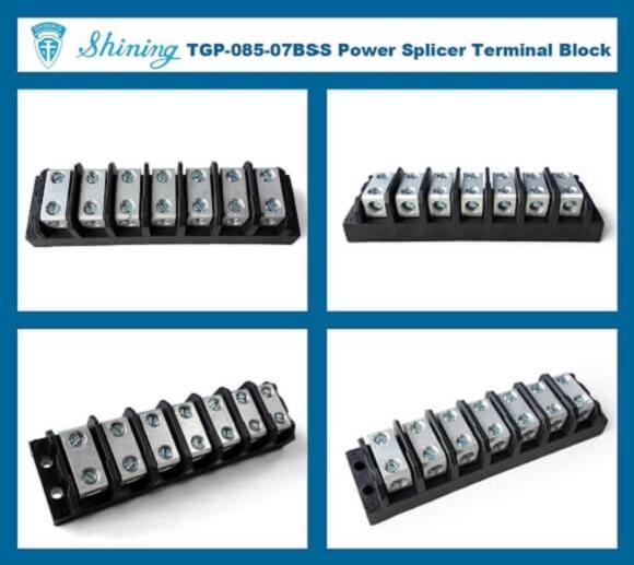 TGP-085-07BSS 600V 85A 7 Way Power Splicer Terminal Block